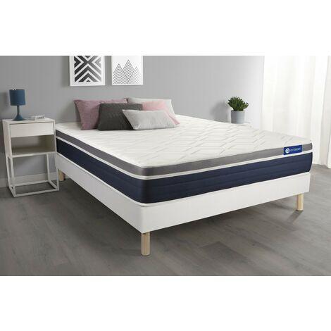 Pack colchón Actimemo confort 140x200cm + Somier multiláminas, espuma viscoelástica, 7 zonas de confort