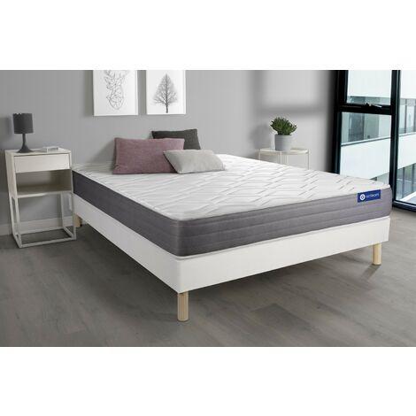 Pack colchón Actimemo dream 180x200cm + Somier multiláminas, espuma viscoelástica, 5 zonas de confort