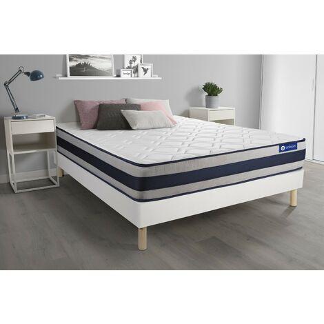 Pack colchón Actimemo ergo 140x200cm + Somier multiláminas, espuma viscoelástica, 5 zonas de confort