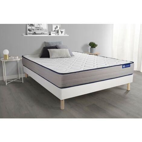 Pack colchón Actimemo form 140x200cm + Somier multiláminas, espuma viscoelástica, 5 zonas de confort