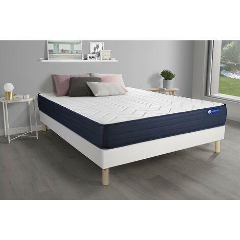 Pack colchón Actimemo life 135x200cm + Somier multiláminas, espuma viscoelástica, 5 zonas de confort