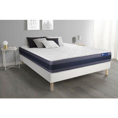 Pack colchón Actimemo morpho 140x200cm + Somier multiláminas, espuma viscoelástica, 5 zonas de confort