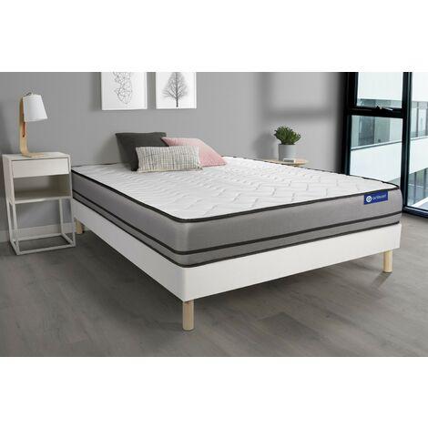 Pack colchón Actimemo night 140x200cm + Somier multiláminas, espuma viscoelástica, 3 zonas de confort