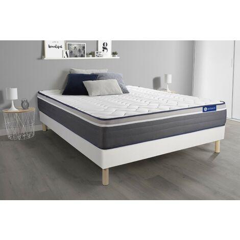 Pack colchón Actimemo plus 140x200cm + Somier multiláminas, espuma viscoelástica, 7 zonas de confort
