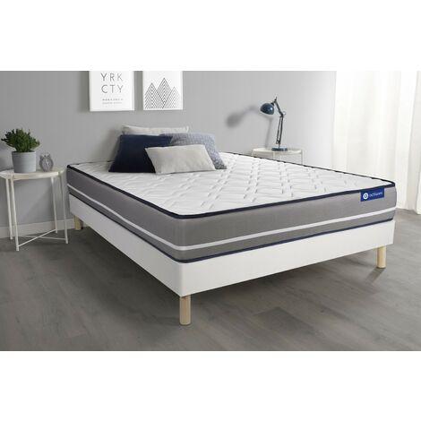 Pack colchón Actimemo pur 135x190cm + Somier multiláminas, espuma viscoelástica, 3 zonas de confort