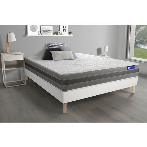 Pack colchón Actimemo relax 135x190cm + Somier multiláminas, espuma viscoelástica, 5 zonas de confort