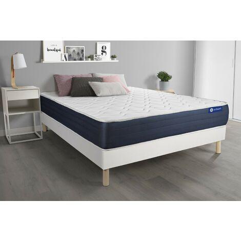 Pack colchón Actimemo sleep 140x200cm + Somier multiláminas, espuma viscoelástica, 5 zonas de confort