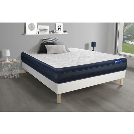 Pack colchón Actimemo tech 140x200cm + Somier multiláminas, espuma viscoelástica, 5 zonas de confort