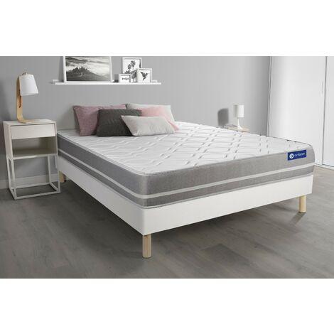 Pack colchón Actimemo touch 140x200cm + Somier multiláminas, espuma viscoelástica, 3 zonas de confort