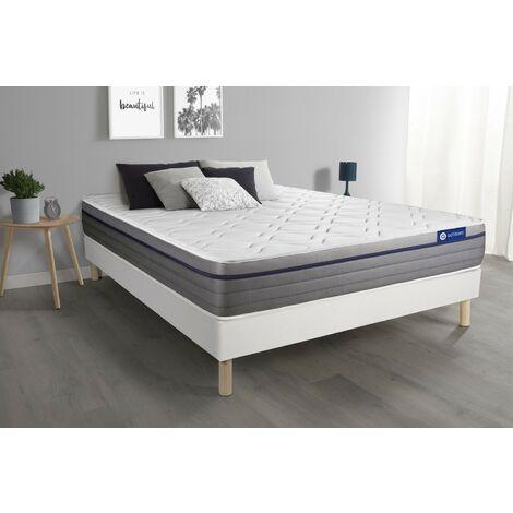 Pack colchón Actimemo zen 140x200cm + Somier multiláminas, espuma viscoelástica, 7 zonas de confort
