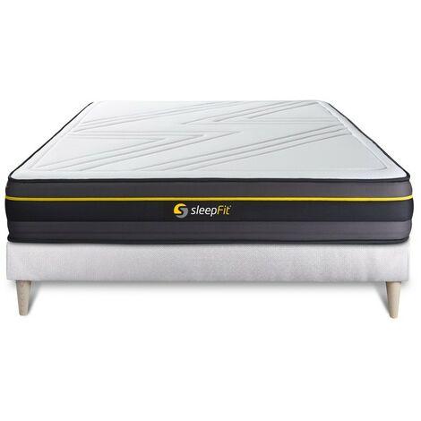 Pack colchón ACTIVE 135x190cm + Somier multiláminas, espuma viscoelástica , 5 zonas de confort