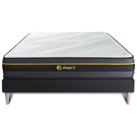 Pack colchón ACTIVE 150x190cm + Somier multiláminas, espuma viscoelástica , 5 zonas de confort