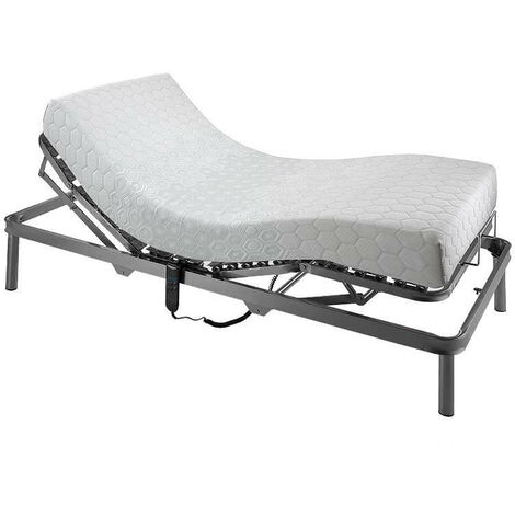 Pack colchón articulado visco Memory 7 zonas descanso altura 23 cm + Cama articulada 5 planos eléctrica