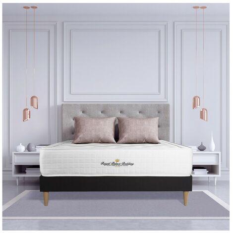 Pack colchón Buckingham 135x190cm + Somier multiláminas, espuma viscoelástica, 7 zonas de confort