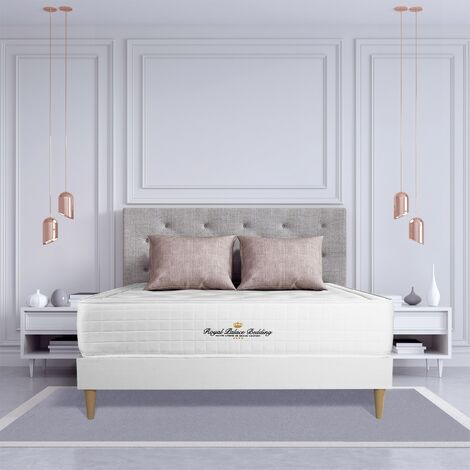 Pack colchón Buckingham 180x220cm + Somier multiláminas, espuma viscoelástica, 7 zonas de confort