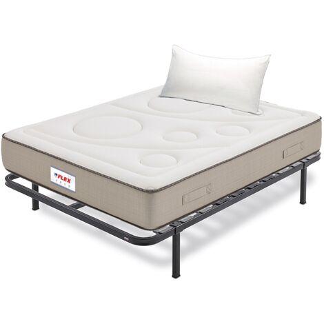 Pack Colchon Flex Visco Airvex Supreme 105x182 + Somier Dormilon con patas + Almohada Lider