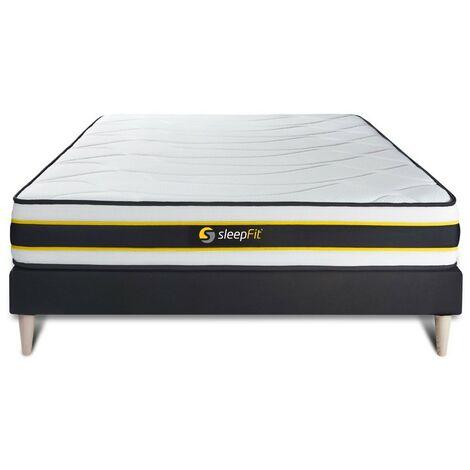 Pack colchón FLEXY 120x200cm + Somier multiláminas, Muelles ensacados y espuma viscoelástica, 3 zonas de confort