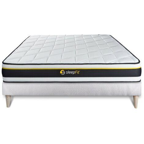 Pack colchón SOFT 140x200cm + Somier multiláminas, espuma de alta densidad con células micro-air, 3 zonas de confort