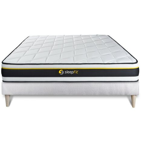 Pack colchón SOFT 150x190cm + Somier multiláminas, espuma de alta densidad con células micro-air, 3 zonas de confort