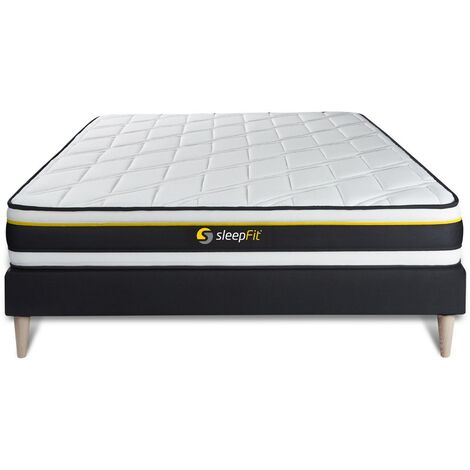 Pack colchón SOFT 150x200cm + Somier multiláminas, espuma de alta densidad con células micro-air, 3 zonas de confort