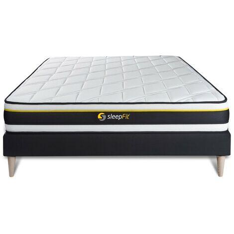 Pack colchón SOFT 180x200cm + Somier multiláminas, espuma de alta densidad con células micro-air, 3 zonas de confort