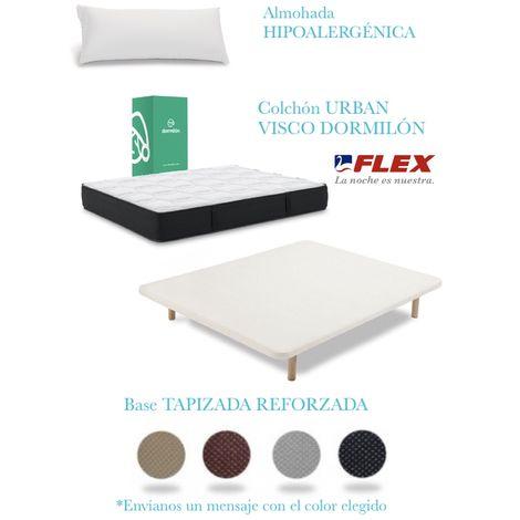 PACK COLCHON URBAN VISCO + TAPIFLEX TRANSPIRABLE CON PATAS