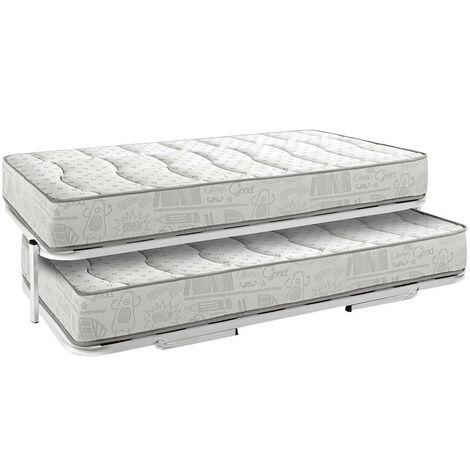 Pack Colchón y Colchoneta Hr Juvenil 20 cm/15 cm firmeza media + Conjunto Nido cama superior y inferior altura 35 cm