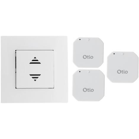 Pack commande centralisée sans fil + 3 micro-récepteurs encastrables télécommandés CMR-8111 - Fermetures - Otio