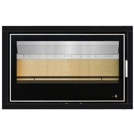 Pack Complet INSERT Black Serie modèle LISBOA-900 - 14kW - Ventilation et Cadre 4 côtés Verre