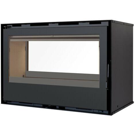 Pack Complet INSERT Classic Double Face modèle C-180DF - 13kW - Ventilation et Cadre 4 côtés Acier