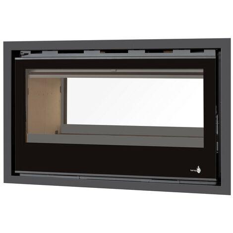 Pack Complet INSERT Classic Vision double face modèle C-290VDF - 13kW - Ventilation et Cadre 4 côtés Verre