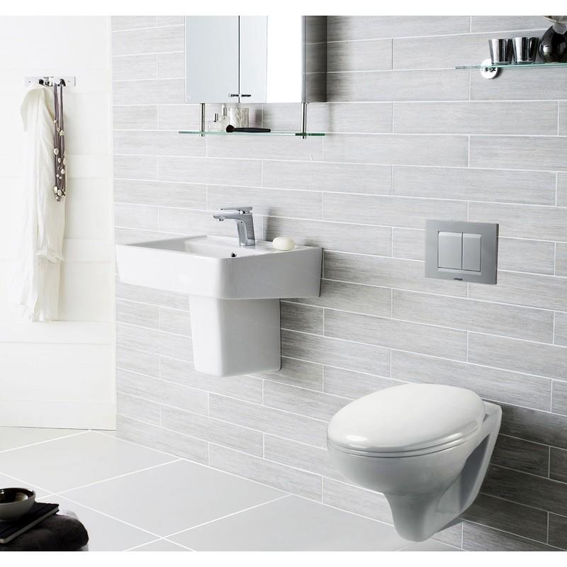 Pack Complet WC Suspendu Bati Autoportant + Cuvette + Plaque Chromé modele  CHRONO