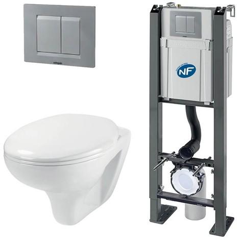 Pack Complet WC Suspendu Bati Autoportant + Cuvette + Plaque ...