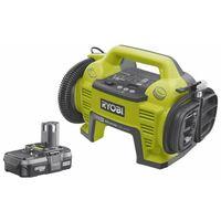 Pack compresseur-gonfleur RYOBI 18V - 1 batterie 18V 1.3 Ah - 1 chargeur R18I-113S