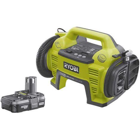 Pack compressor-inflator RYOBI 18V - 1 battery 18V 1.3 Ah - 1 charger R18I-113S