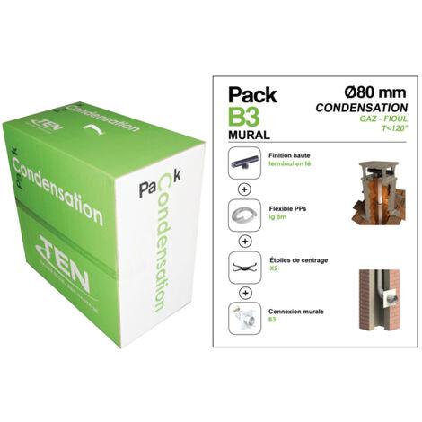 Pack condensation mural (PP flex 10m + connexion mural B3 + Terminal T)