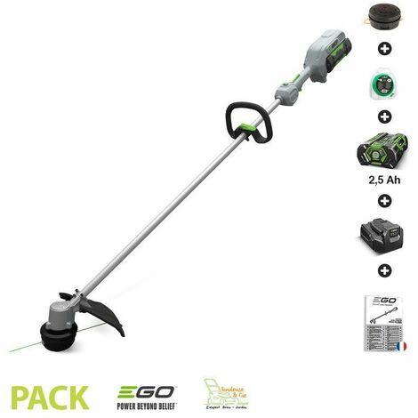Pack coupe bordure sans fil EGO POWER à tête de coupe 33 cm batterie lithium 56V 2,5 Ah et chargeur - ST1300E - Gris