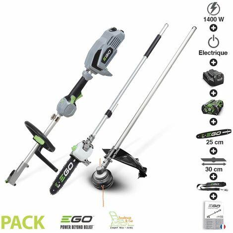 Pack coupe herbe élagage avec moteur électrique sans fil chargeur batterie 56v Egopower - Gris