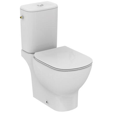 Pack cuvette WC au sol Tési technologie AquaBlade® + abattant frein de chute Ideal Standard T033601 Frais de port offerts