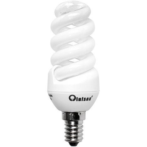 Pack de 10 bombillas espiral Olufsen bajo consumo