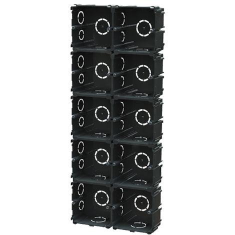 pack de 10 cajas mecanismos enlazable