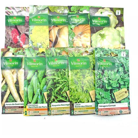 Pack de 10 sachets de graines légumes d'autrefois