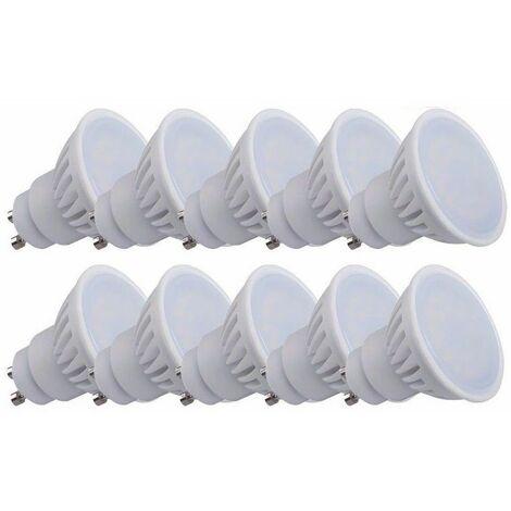 Pack de 10 Spot LED GU10 Blanc Chaud 9W TEDI MAX de Kanlux angle 120°, eq 66 Watts (900 lumens)