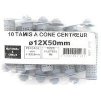 Pack de 10 Tamis à cone centreur BATIFIX diamètre 12 x 50mm