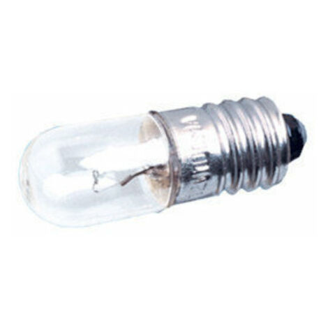 Pack de 100 uds Bombillas de filamento rosca E10 6 V 0.3 A Electro DH. 12.350/6/0.3 8430552021017