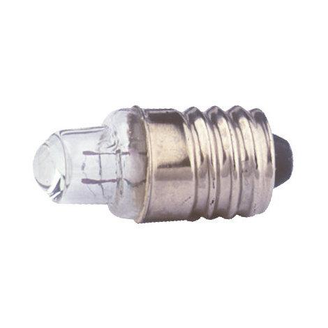 Pack de 100 uds Bombillas de filamento rosca E10 Cristal con lupa 2.5 V Electro DH. 12.355/2.5/0.3 8430552071999