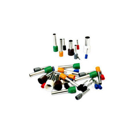 Pack de 100 uds Punteras aisladas para crimpar color negro de 8 mm Electro Dh 31.607/1.5/8 8430552125258