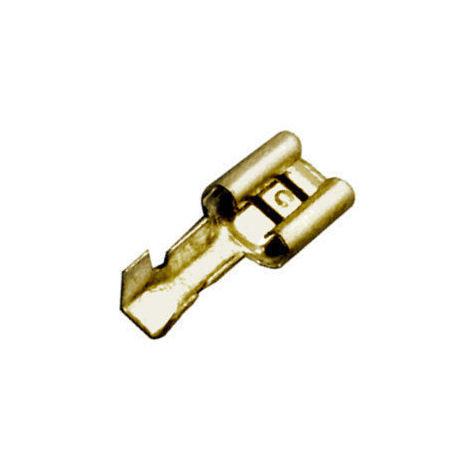 Pack de 100 uds Terminales Fastom hembra de 6.35 mm Electro DH 10.905/6 8430552067343