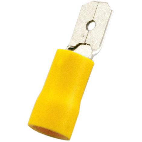 Pack de 100 uds Terminales Faston Macho Aislado 4'80 mm Electro DH Color Funda Rojo 10.914/4.8/R 8430552102976