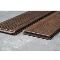 Pack de 1.03 m² : 4 Lames de Terrasse Bamboo 2 Faces (lisse et striée) 20x139 en 1.85m + Clips et Vis